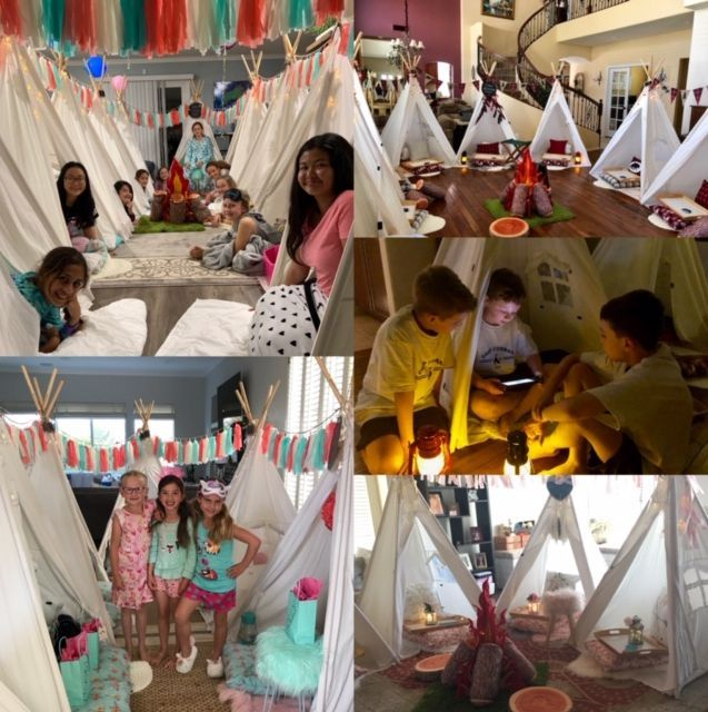 Kids party rentals, teepee rentals, teepee party, teepee parties, sleepover party, sleepover parties, kids birthday party, kids birthday parties, party planner, kids party planner, Newport Beach, Orange County