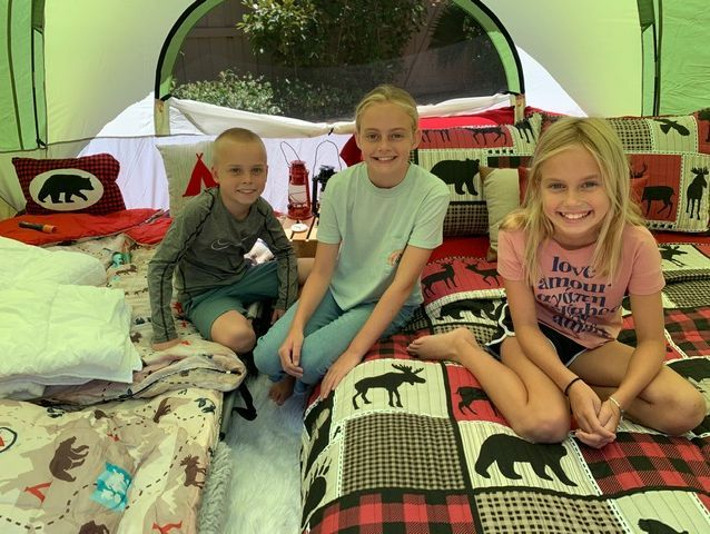 Staycation, camping, backyard, yurt camping, staycation camping, family fun, Newport Beach, Orange County