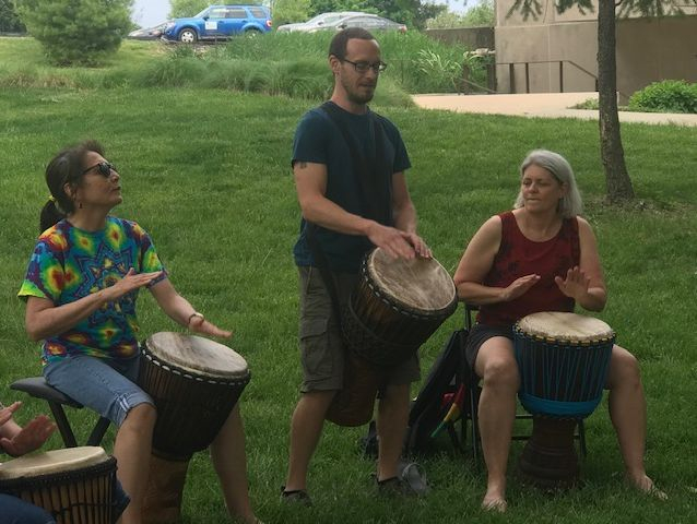 Heartbeat of Gaia Drum Circle at the Fuller Dome SIUE