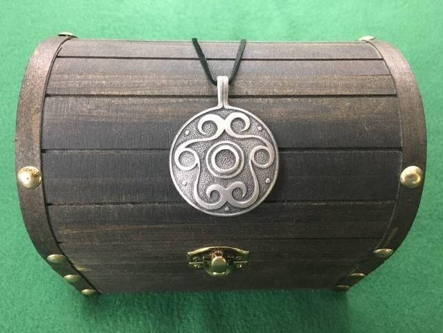 Volute Amulet, Iron Age, Celtic, Viking, Shield Ravens