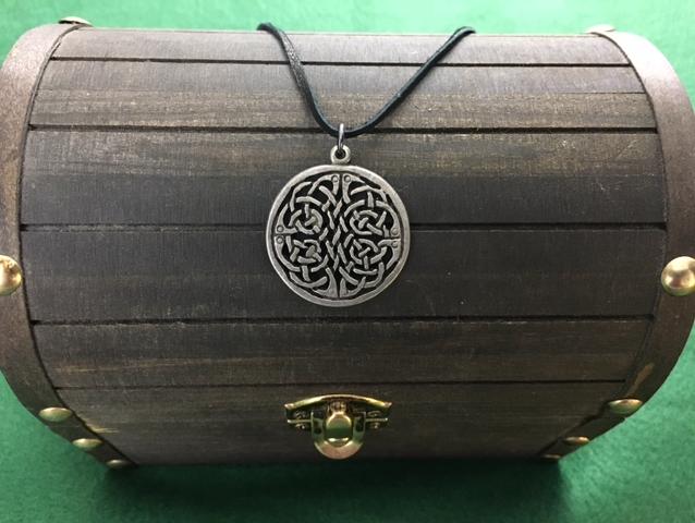 Celtic Knot Pendant, Irish, Celtic, Shield Ravens