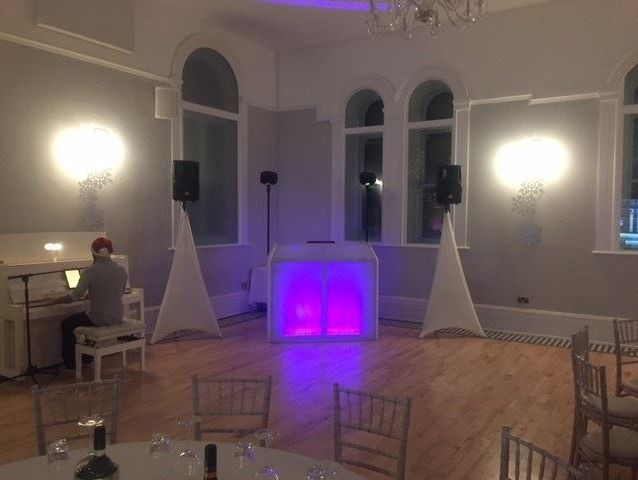 Southport DJ, Glynn Tee, Bronze Package set up for a Christmas Party at Village Point, Stockport.
