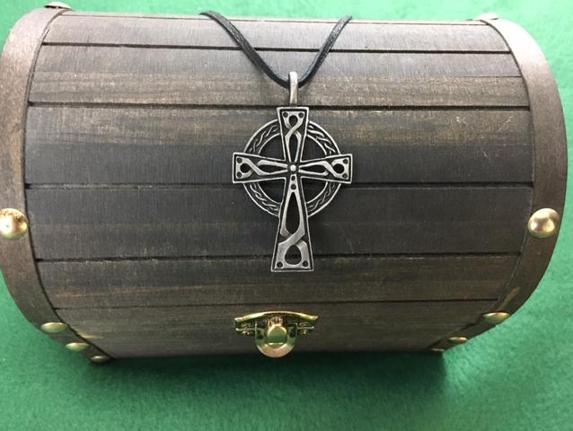 Celtic Cross Pendant, Celtic, Irish, Cross, Iron Age, Shield Ravens