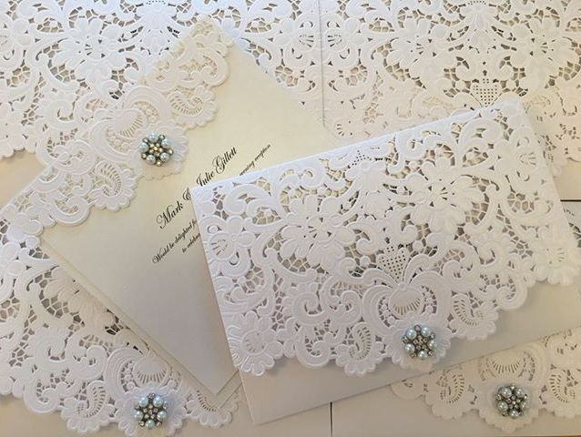 lace lasercut wallet invitation, wedding invitations, luxury wedding invitations