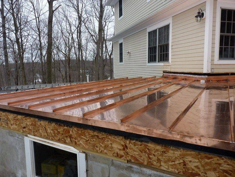 Copper installation on Roof