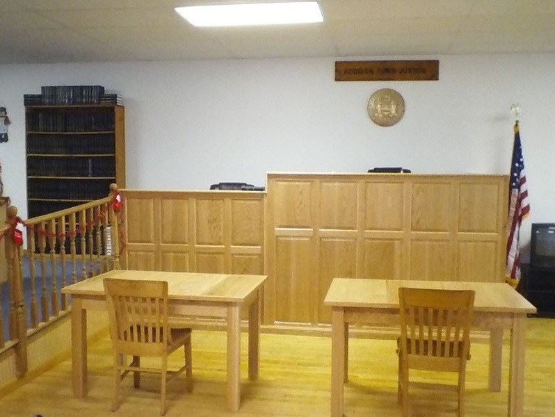 Addison Town Justice : Our new court room