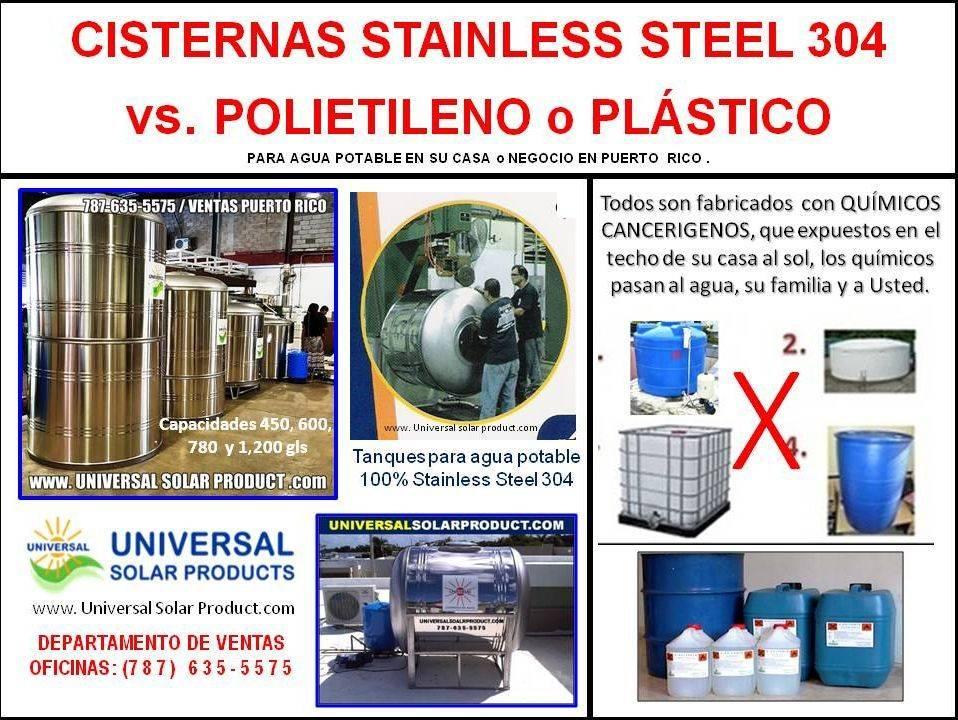 Tanques de Plástico, no usar como Cisterna