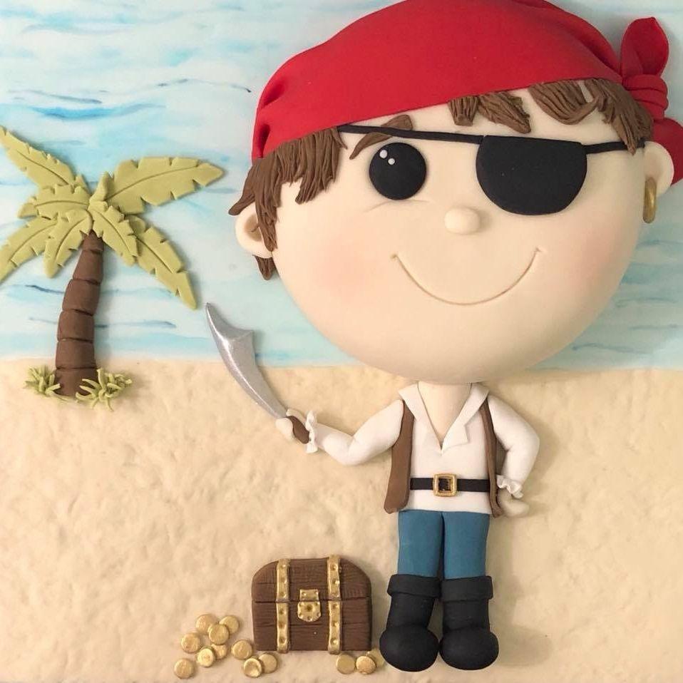 Pirate Cake Treasure Chest Island Palm Tree