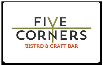 Gift Cards Five Corners Bistro & Craft Bar Farmington.
