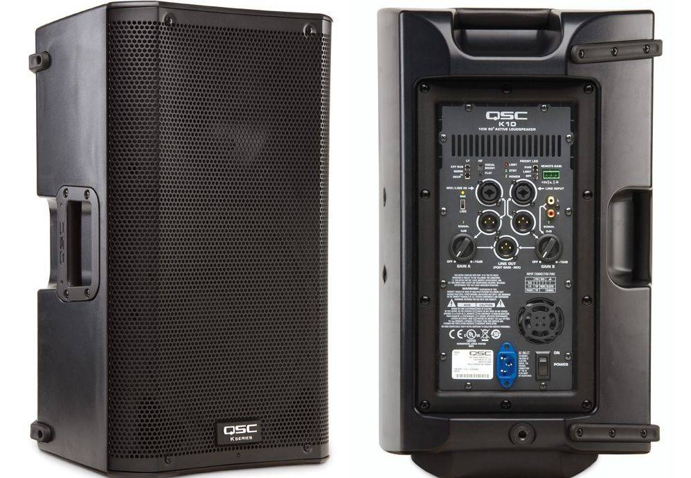 qsc  powered speakers for rent