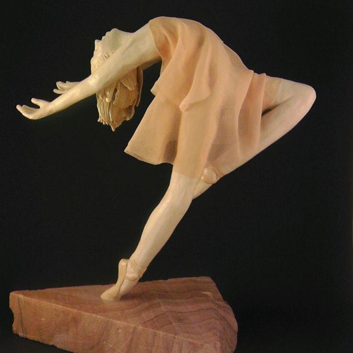 "CMiles  - Lifting My Spirit, paperclay, chiffon, 10""x10""x6"" (sold)"