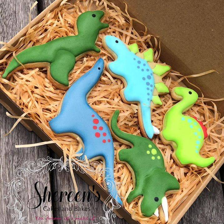 Dinosaur Cookie Box