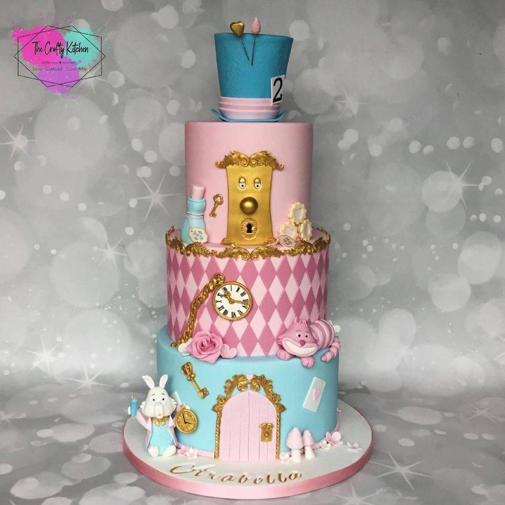 Alice in wonderland children's birthday cake