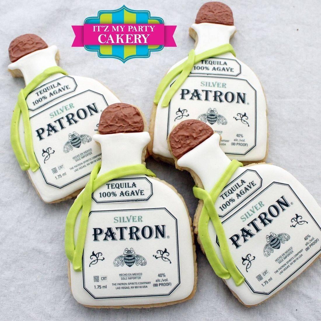 Patron Bottle Cookies Milwaukee