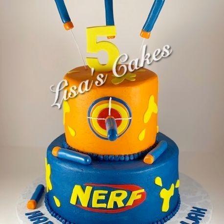 Nerf Birthday Cake
