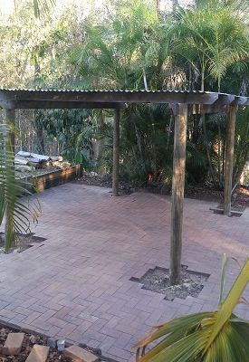 Repairing Pergola & Paving The Palms
