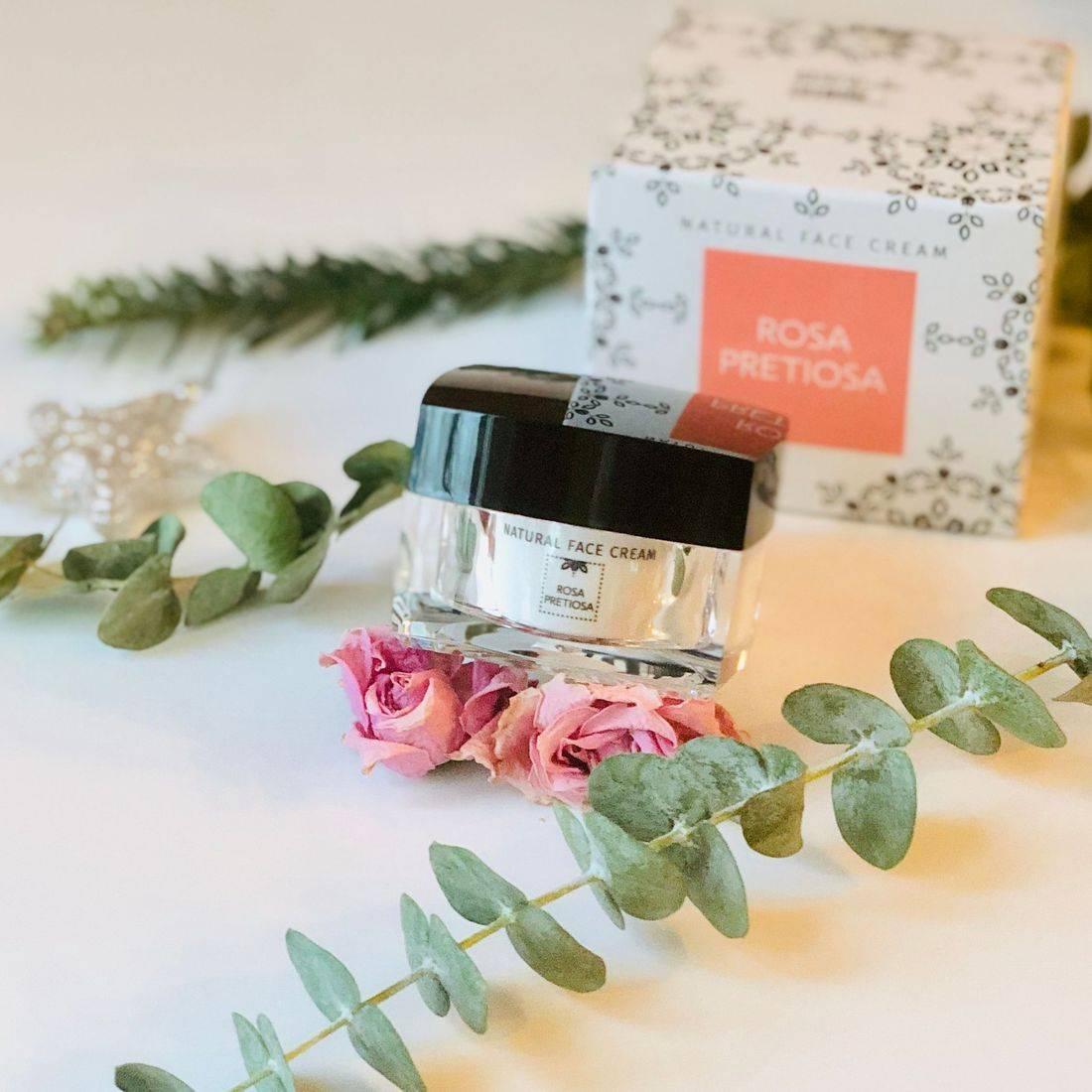 rosa pretiosa face cream, rose face cream, best rose-infused skincare, rose beauty, clean beauty, rosepostbox