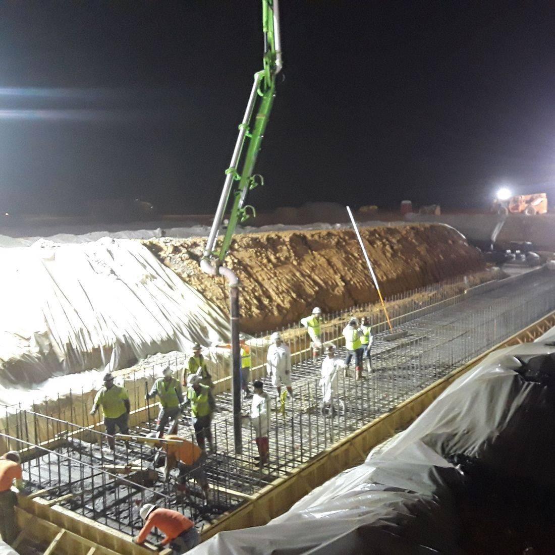 Waterproof slab for tunnel in SE TN