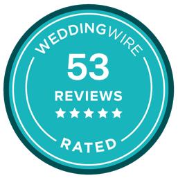 weddingwire.com reviews badge