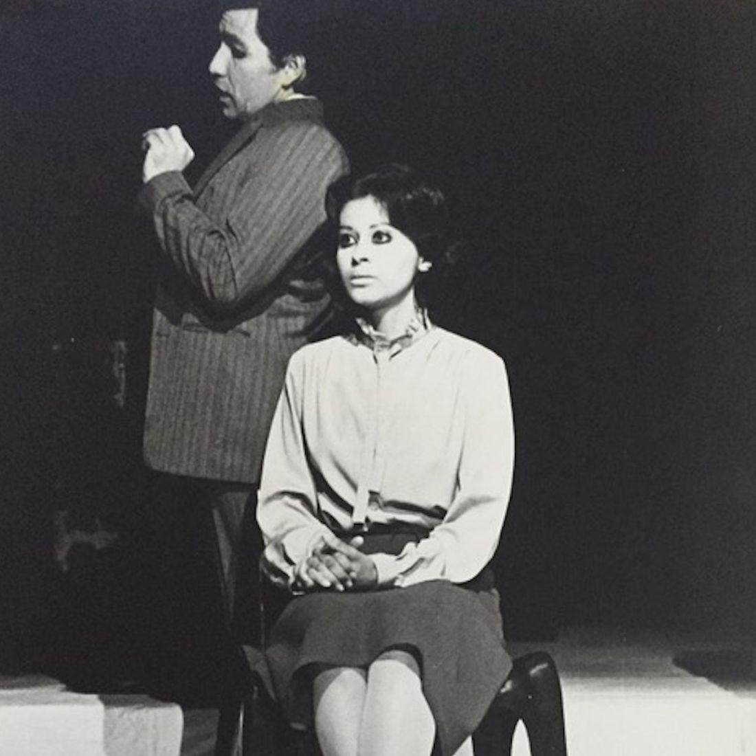 La autopsia by Enrique Buenaventura, directed by Gustavo Gac-Artigas, actors: Jaime Prat Corona and Priscilla Gac-Artigas