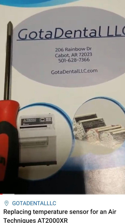 GotaDental LLC replacing temperature sensor for Air Techniques AT2000XR