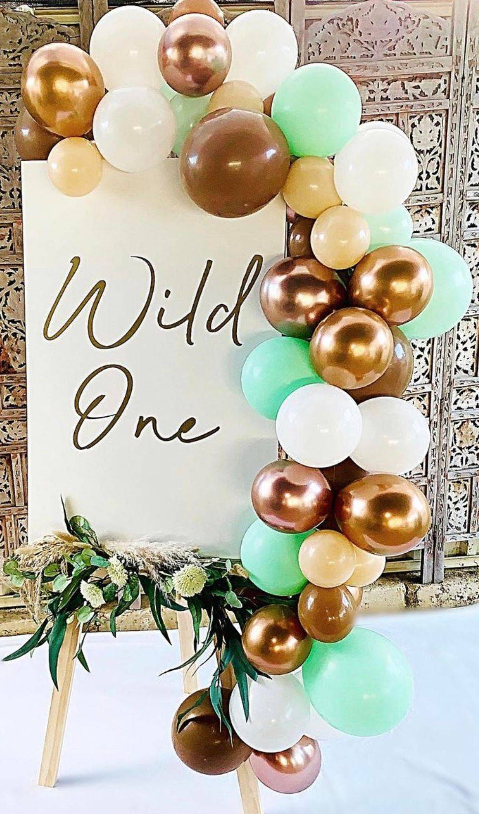 Wild One Sign on Easel