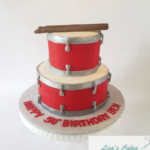 Stacked Drums Birthday Cake