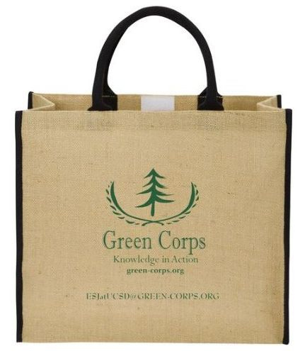 Green Corps Large Jute Tote