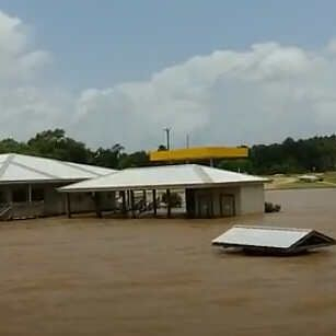 flood, marina, Natchitoches, Red River, high water