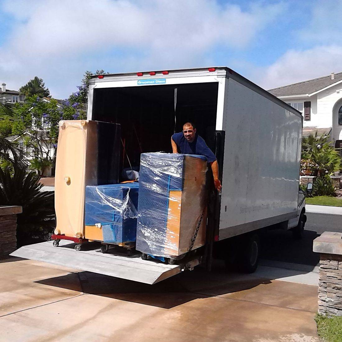 Moving furniture in Orange County dresser movers single item moving