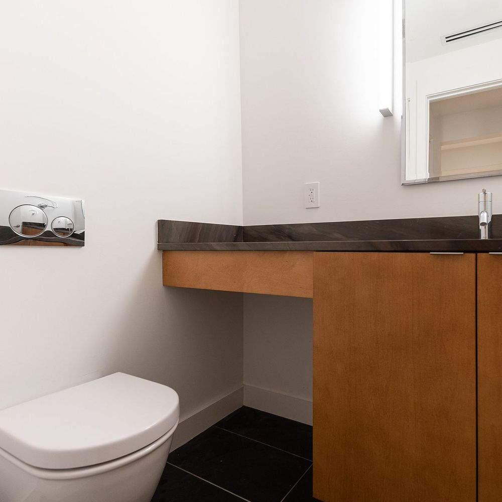 Freshly Constructed Bathroom with Modern Fixtures