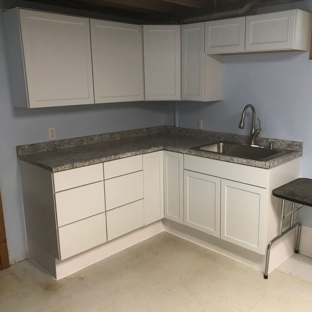 New cabinets, new countertops.