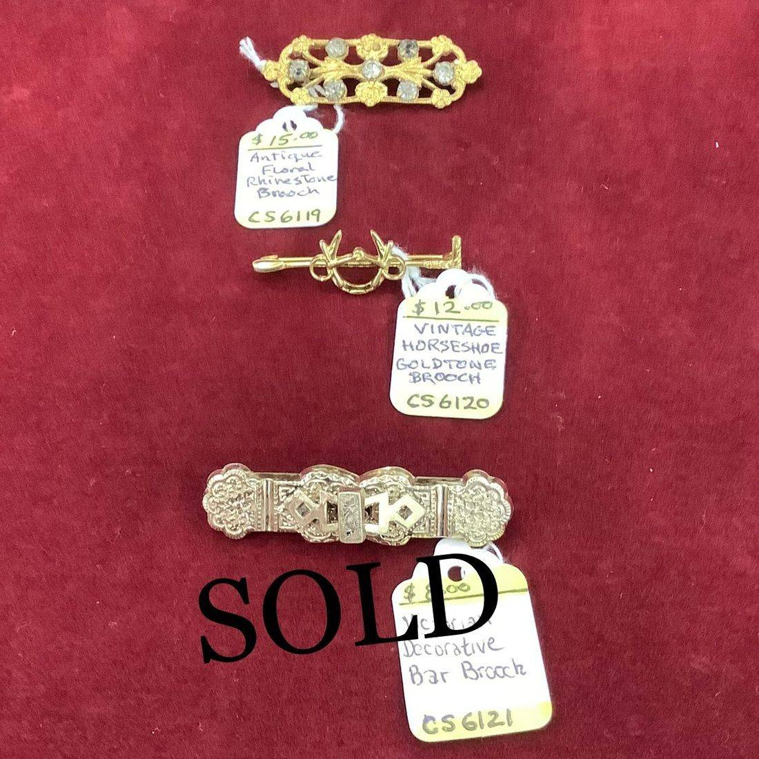 Antique, Vintage & Victorian Brooches  $8.00 to $15.00