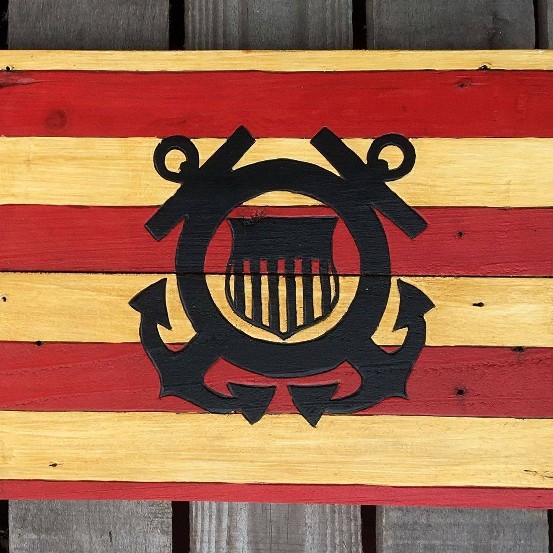 USA Handmade Reclaimed Pallet Wood American Police Blue Lives Flag