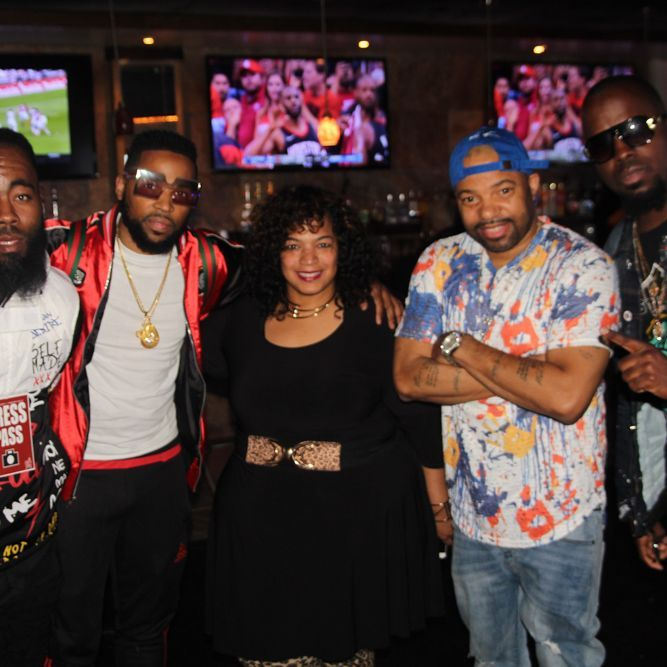 host shelly williams, artist/producer jay reeze, singer producer corey wims, author jimmy dasaint