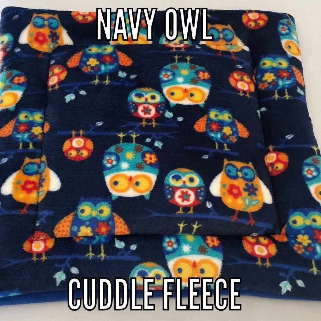 navy Owl fabric