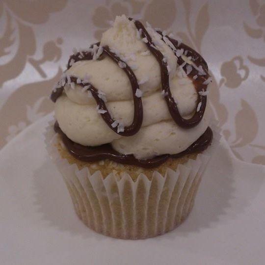 Vegan Coconut With Hazelnut Chocolate Spread Cupcake