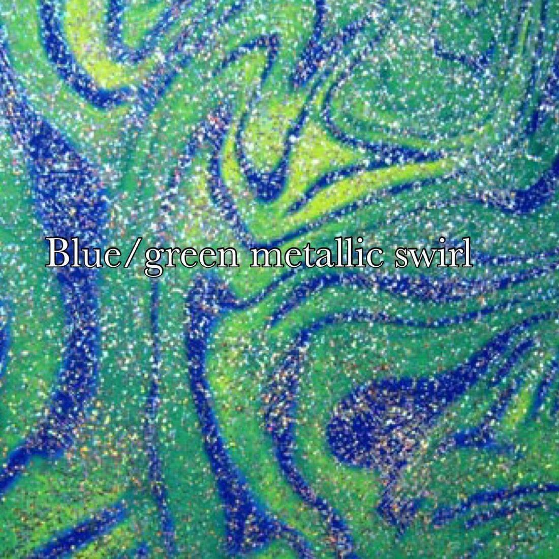 Blue green swirl