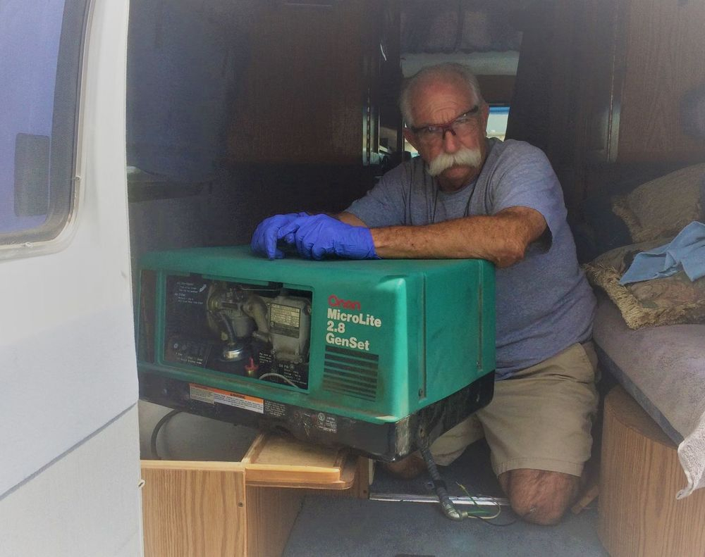 Garry  installs  2.8 Generator