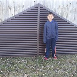 4 piece triangle gable vent