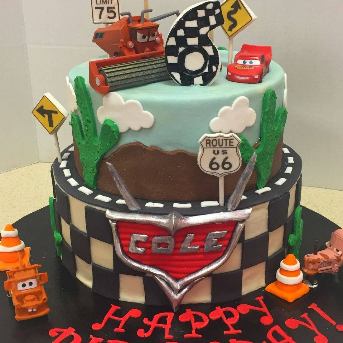 birthday cake cars theme cars 2 cars 3 cakes