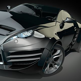 concept car in black