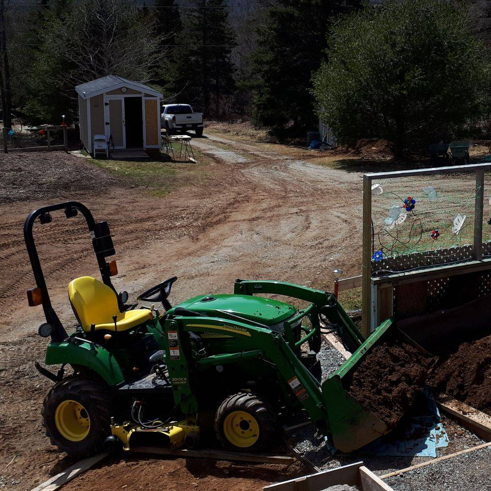 Tractor and landscaping