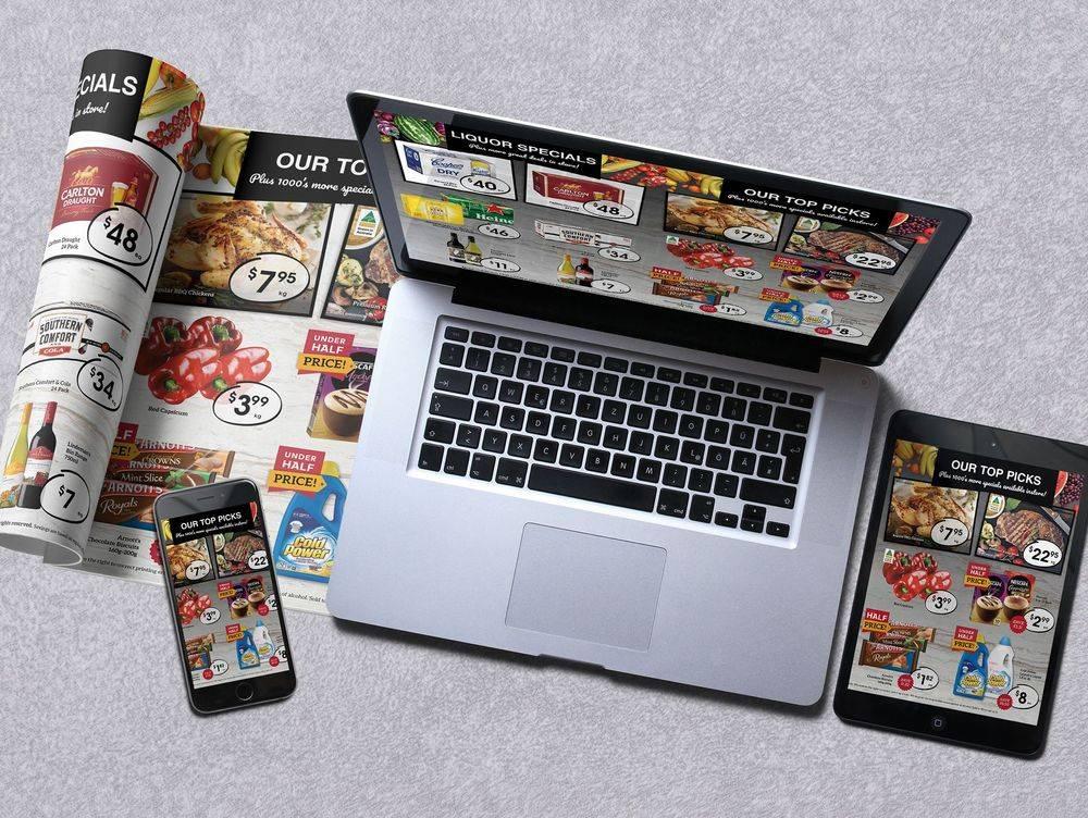 Supermarket Catalogues, Liquor Flyers, Fresh Food Promotion, Print, On Line