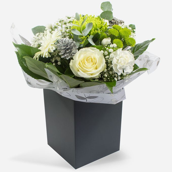 White and green  Christmas bouquet