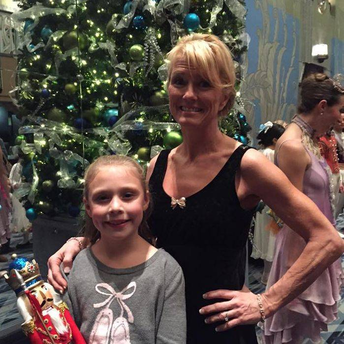 Studio director Janine Fraser with one of ourBon Bond after her fabulous Nutcracker performance with State Street Ballet at the Fox Theatre.