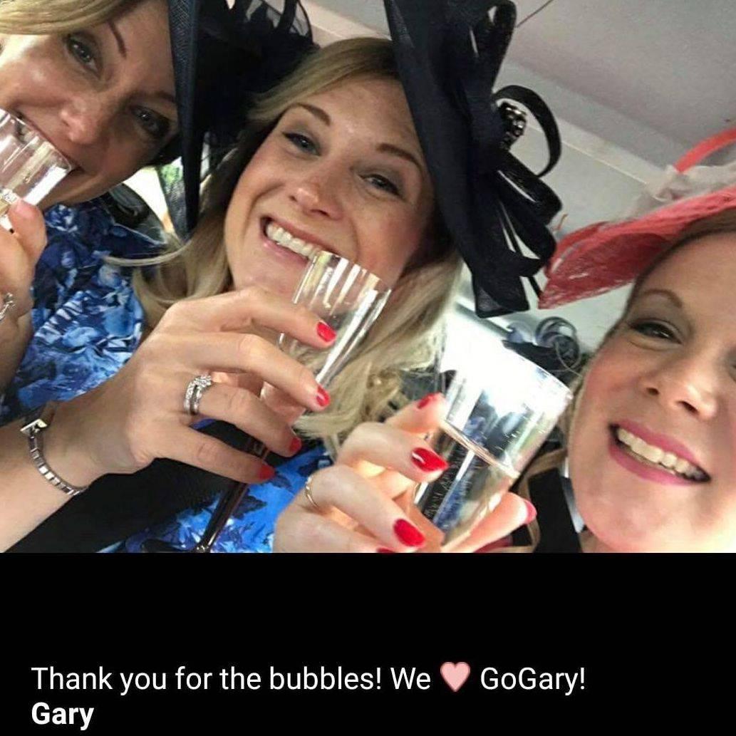 three ladies Ascot Races Minibus