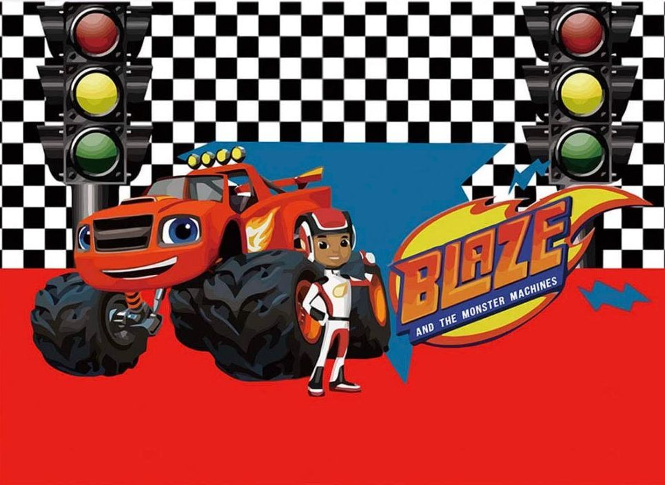 Blaze and the Monster Machines Monster Truck Party Backdrop