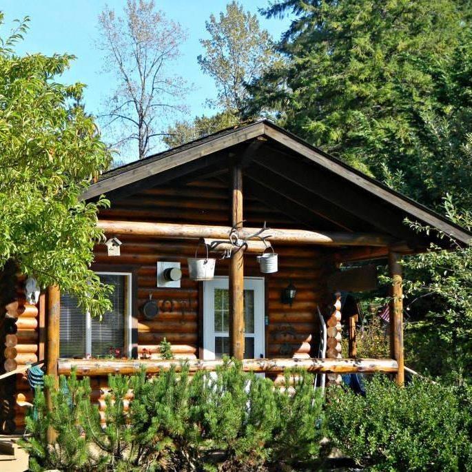 log cabins, north cascades