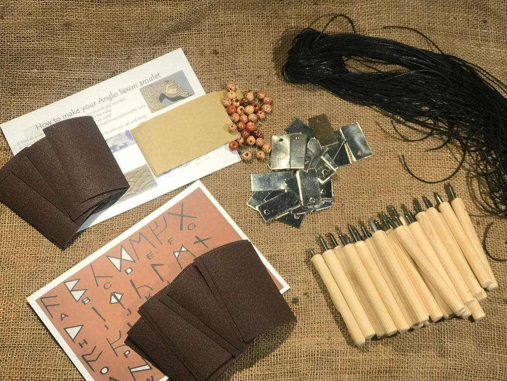 Anglo Saxon Amulet Craft Kit for School History Resources KS2